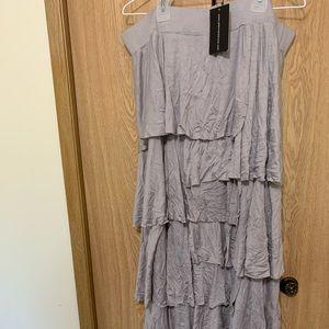 Silver layered skirt